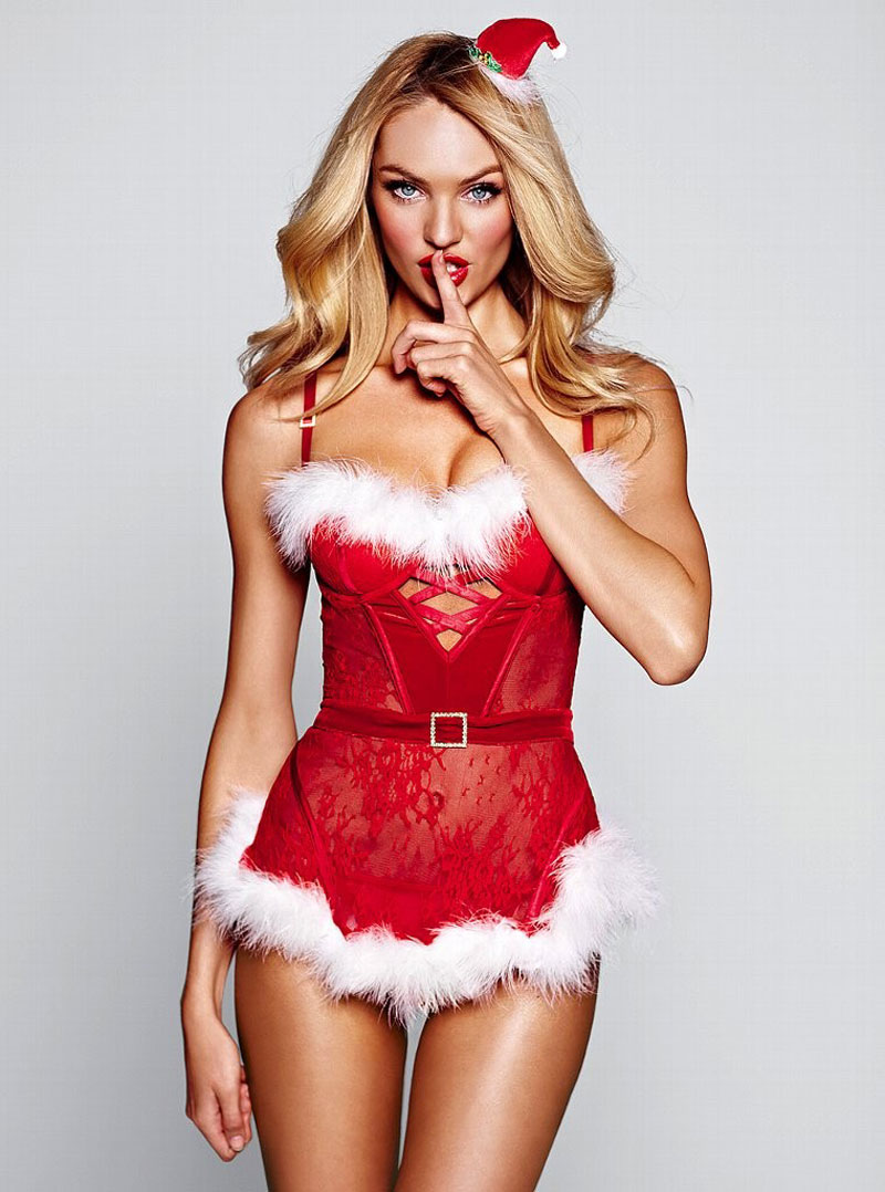 ♥ VS Lingerie Models Blog ♥: VS Santa Baby: Candice Swanepoel